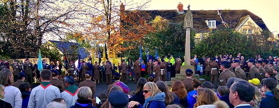 Remembrance Sunday at St Edburg's