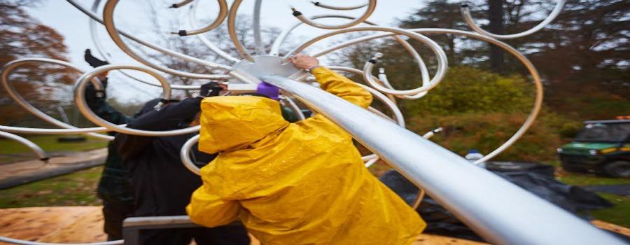 Dazzling sculptures bring winter wonderland to life
