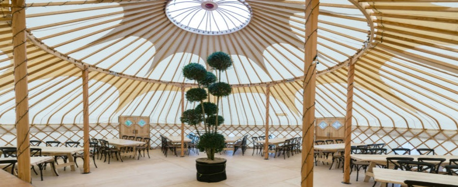 The Yurt at Nicholsons-a new venue for dining