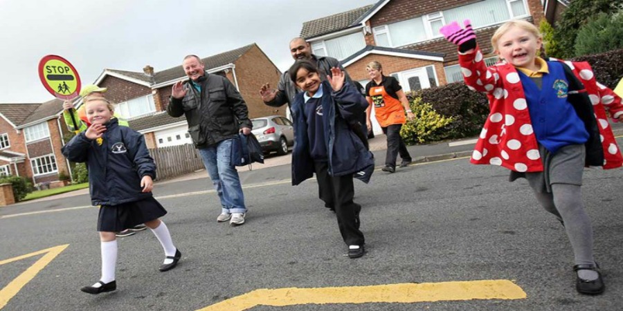 Healthy New Town project encourages children to walk to school