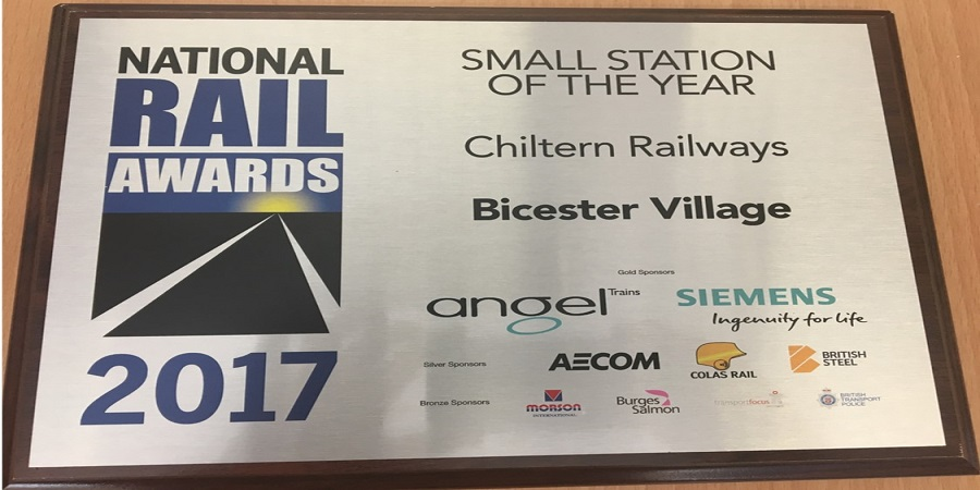 Bicester Village station named Small Station of the Year