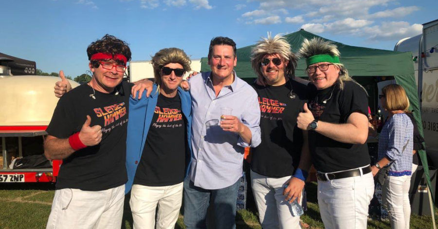 Eighties covers band Sledgehammer at Garth Park this weekend