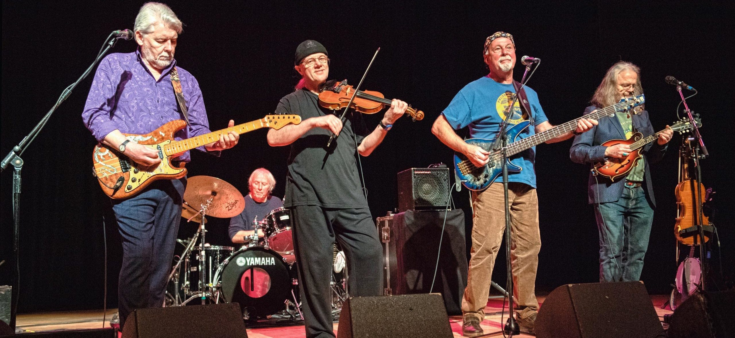 Fairport Convention on stage at The Stables, Milton Keynes, UK on 13 February 2019. Photo by David Jackson.