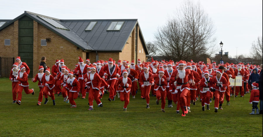 Santas take to the streets for festive fundraising