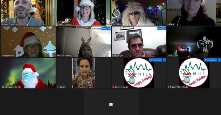 Innovative Oxford healthcare team enjoys an online Christmas party
