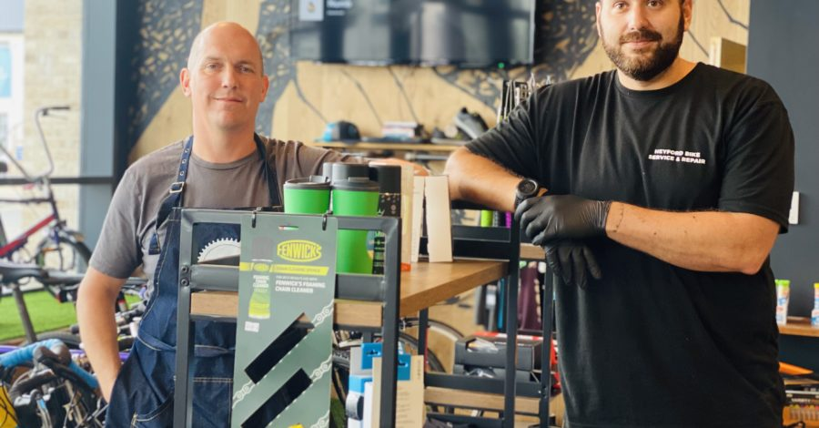 Cycles and coffee – two new businesses at the heart of the Heyford Park community